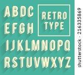 retro poster alphabet. retro... | Shutterstock .eps vector #216335869