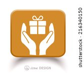 pictograph of gift | Shutterstock .eps vector #216340150