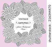 vintage vector flowers frame | Shutterstock .eps vector #216344470