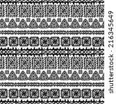 tribal art ethnic seamless... | Shutterstock .eps vector #216345649