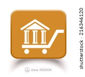 pictograph of bank   Shutterstock .eps vector #216346120