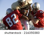 defenders tackling running back ... | Shutterstock . vector #216350383