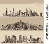 chicago  los angeles  houston... | Shutterstock .eps vector #216350860