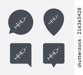 syringe sign icon. medicine... | Shutterstock .eps vector #216365428