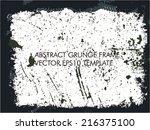 grunge frame | Shutterstock .eps vector #216375100
