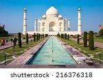 Famous Taj Mahal Mausoleum In...