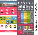 flat website design template...