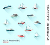 water jet speed motor boats and ... | Shutterstock .eps vector #216386488