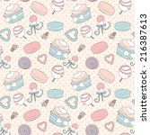 seamless pattern with pictures... | Shutterstock .eps vector #216387613