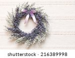 Wreath With Lavender Flowers O...