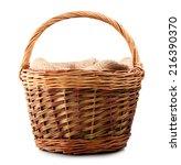 Vintage Weave Wicker Basket...