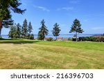 Beautiful landscape with water view during sunny summer days iin Federal Way, WA