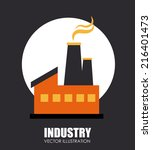 industry design over gray... | Shutterstock .eps vector #216401473