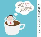businessman thinking good...   Shutterstock .eps vector #216403213
