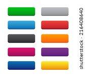 blank web buttons. vector... | Shutterstock . vector #216408640