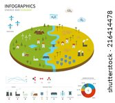 energy industry and ecology... | Shutterstock .eps vector #216414478