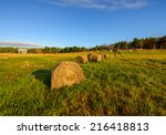 Bales Of Hay Out On A Farm...