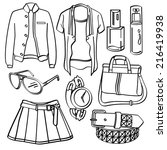 clothing and accessories | Shutterstock .eps vector #216419938