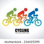 bike design over white... | Shutterstock .eps vector #216425290