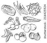 vegetables set | Shutterstock .eps vector #216425524