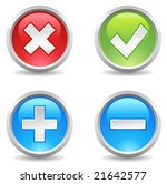 internet buttons   delete ... | Shutterstock .eps vector #21642577