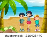 illustration of the children... | Shutterstock . vector #216428440