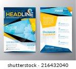 abstract triangle design vector ...   Shutterstock .eps vector #216432040