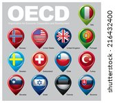 oecd members countries  part one | Shutterstock .eps vector #216432400