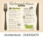 Restaurant Placemat Menu Desig...