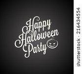 halloween party vintage... | Shutterstock .eps vector #216434554
