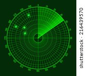 green radar screen. vector...   Shutterstock .eps vector #216439570