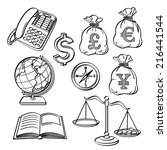 financial   business icon set | Shutterstock .eps vector #216441544