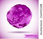 watercolor design element for...   Shutterstock .eps vector #216452188