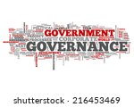 word cloud with governance... | Shutterstock . vector #216453469