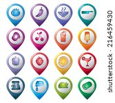 food and drinks pointer icons   Shutterstock .eps vector #216459430