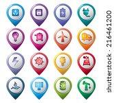 energy pointer icons | Shutterstock .eps vector #216461200