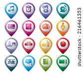 education pointer icons   Shutterstock .eps vector #216461353