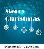 abstract beauty christmas and... | Shutterstock .eps vector #216466288