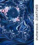 Fast Water Swirl   Blue Floral...