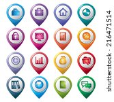 business pointer icons | Shutterstock .eps vector #216471514