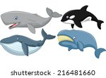 cartoon whale collection | Shutterstock .eps vector #216481660