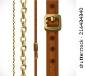 Leather Belts With Brass...