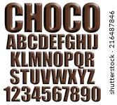 3d chocolate alphabets on...   Shutterstock . vector #216487846