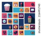 set of movie design elements... | Shutterstock . vector #216491740