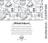 oktoberfest celebration black... | Shutterstock .eps vector #216509380