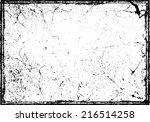 grunge texture. vector... | Shutterstock .eps vector #216514258