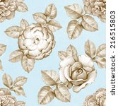 seamless pattern with pencil... | Shutterstock . vector #216515803