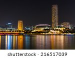 singapore sep 04  the downtown... | Shutterstock . vector #216517039