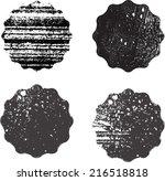 set of grunge stamp  | Shutterstock .eps vector #216518818