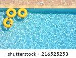 Three Yellow Pool Rings...